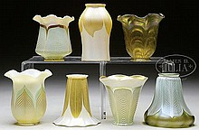 SEVEN ART GLASS SHADES.