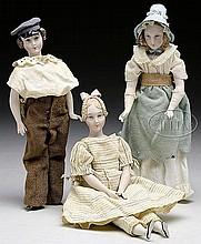 THREE ARTIST DOLLS BY MARTHA THOMPSON.
