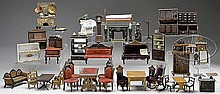HUGE GROUPING OF DOLL HOUSE FURNITURE.
