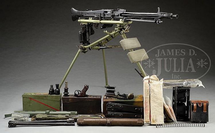 FANTASTIC MAUSER MANUFACTURED WWII GERMAN MG42 MACHINE GUN O