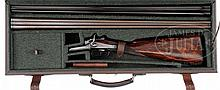 HOLLAND & HOLLAND 28 GA. TOP LEVER HAMMER GAME SHOTGUN WITH EXTRA .410 BARRELS AND CASE.