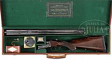 PERFECT FOR YOUR NEXT SAFARI, A GREAT RIFLE FOR A PROFESSIONAL HUNTER, ARMY & NAVY BOXLOCK EJECTOR DANGEROUS GAME DOUBLE RIFLE WITH CASE.