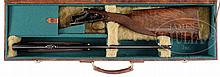 EXTREMELY FINE EMPIRE GRADE FABRIQUE NATIONALE SUPERPOSED RIFLE IN .270 CALIBER WITH CASE.