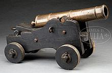 RARE SPANISH 3-POUNDER BRONZE CANNON CAPTURED BY AMERICANS AT VERA CRUZ DURING THE MEXICAN WAR.