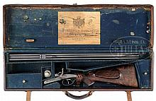 FINE HOLLAND & HOLLAND TOP LEVER HAMMER DOUBLE RIFLE IN .375 - 2-1/4