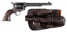 HISTORICALLY IMPORTANT ARIZONA ASSOCIATED COLT SINGLE ACTION ARMY REVOLVER CAVALRY REVOLVER WITH LETTER FROM NOTED AUTHORITY JOHN KOPEC.