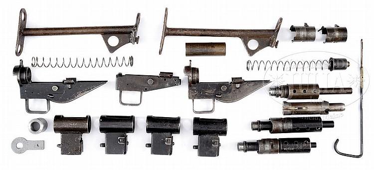 BRITISH MACHINE GUN PARTS KIT LOT W/THREE STEN AND THREE STE