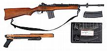 HIGHLY DESIRABLE RUGER AC 556 MACHINE GUN WITH CIENER .22 CAL CONVERSION KIT AND EXTRA ACCESSORIES (FULLY TRANSFERABLE).