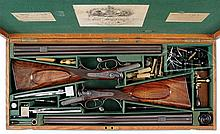 INCREDIBLE PAIR OF HIGH CONDITION BIG BORE CHARLES LANCASTER SLIDE AND DROP HAMMER DOUBLE