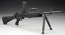 EXCEEDINGLY SCARCE KNIGHT'S ARMAMENT COMPANY STONER 63A WITH TOP MAGAZINE FEED MACHINE GUN (FULLY TRANSFERABLE).