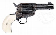 BEAUTIFUL COLT FACTORY CUSTOM SHOP ENGRAVED SINGLE ACTION ARMY WITH IVORY BIRD'S HEAD GRIP.