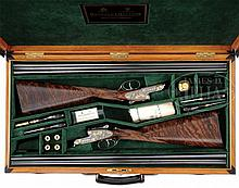 STUNNING BEAUTIFULLY MATCHED PAIR OF 28 GAUGE HOLLAND & HOLLAND