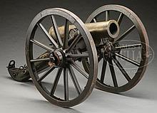 FINE CIVIL WAR AMES 1863 DATED BRONZE 12-POUNDER MOUNTAIN HOWITZER.