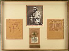 JEB STUART ARCHIVE INCLUDING HIS ORIGINAL PATENT MODEL AND PATENT FOR HIS FAMOUS SWORD HANGER.