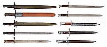 EXCEPTIONAL GROUP OF 10 U.S. MILITARY BAYONETS.