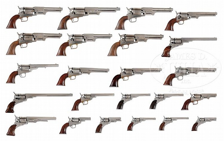 INCREDIBLE COLLECTION OF REPRODUCTION COLT REVOLVERS, STARTI
