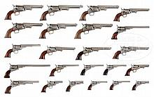 INCREDIBLE COLLECTION OF REPRODUCTION COLT REVOLVERS, STARTING WITH PATERSON THROUGH MOST ALL PERCUSSION, ENDING WITH THUER CONVERSION.