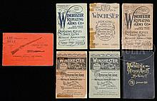 GROUP OF 7 WINCHESTER CATALOGS.
