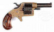 FACTORY ENGRAVED 5-SHOT ROUND CYLINDER COLT HOUSE MODEL REVOLVER.