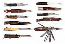 FINE LOT OF 19TH CENTURY BOWIE KNIVES.