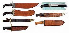 EXCEPTIONAL GROUP OF AMERICAN MILITARY KNIVES.