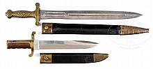 TWO EXCEPTIONAL CIVIL WAR AMES EDGED WEAPONS.
