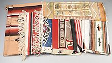 LOT OF SEVEN RUGS.