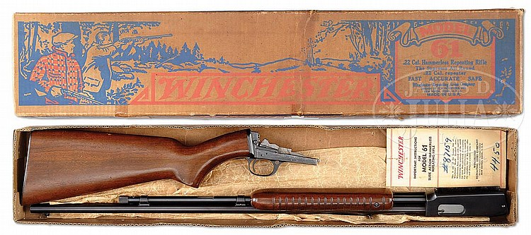 EXCEPTIONAL WINCHESTER MODEL 61 SLIDE ACTION RIFLE IN ORIGIN