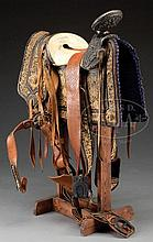 MARVELOUS MEXICAN CHARRO SADDLE MADE BY FERNANDO PEREZ ALONSO OF MEXICO CITY OF THE TALABARTERIA