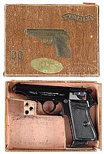 RARE WALTHER 5.25 PRE-WAR MODEL PP 22 PISTOL WITH BOX.