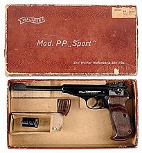 VERY FINE AND RARE WALTHER MODEL PP SPORT .22LR PISTOL IN BOX.