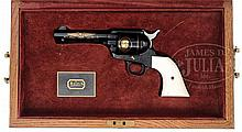 COLT SINGLE ACTION ARMY REVOLVER JOHN WAYNE COMMEMORATIVE ISSUE WITH COLT FACTORY CONGRATULATORY LETTER.