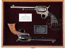 CASED PAIR OF COLT SINGLE ACTION ARMY REVOLVERS, PEACEMAKER CENTENNIAL EDITION.