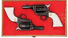 CASED PAIR OF 3RD GENERATION COLT SINGLE ACTION ARMY SHERIFF'S MODEL REVOLVERS.
