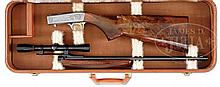 SCARCE BROWNING SEMI AUTO 22 GRADE 2 IN 22 LONG RIFLE CALIBER WITH CASE AND SCOPE.