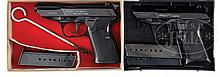 PAIR OF WALTHER P-5 9 MM PISTOLS.