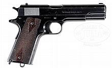 COLT MODEL 1911 CAL. .45 ACP NAVY MARKED PISTOL IN EXCELLENT ALL ORIGINAL CONDITION WITH FACTORY LETTER.