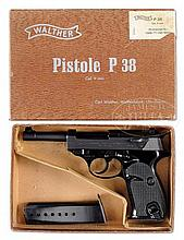 EXTREMELY FINE WALTHER P1 9MM PISTOL IN BOX.