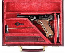 EXTREMELY FINE AND RARE MAUSER 1902 CARTRIDGE COUNTER COMMEMORATIVE LUGER 9MM PISTOL IN CASE.