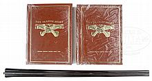 PARKER BROTHERS COLLECTOR'S LOT INCLUDING A RARE SET OF 20 GAUGE BBLS WITH FOREARM AND PARKER STORY LIMITED EDITION 2-VOLUME SET.