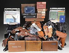 EXPANSIVE LOT OF MISCELLANEOUS WALTHER AND EUROPEAN PISTOL HOLSTERS WITH A DESIRABLE COLLECTION OF WALTHER COMMERCIAL TECHNICAL MANUALS FROM 1936 TO PRESENT DAY.