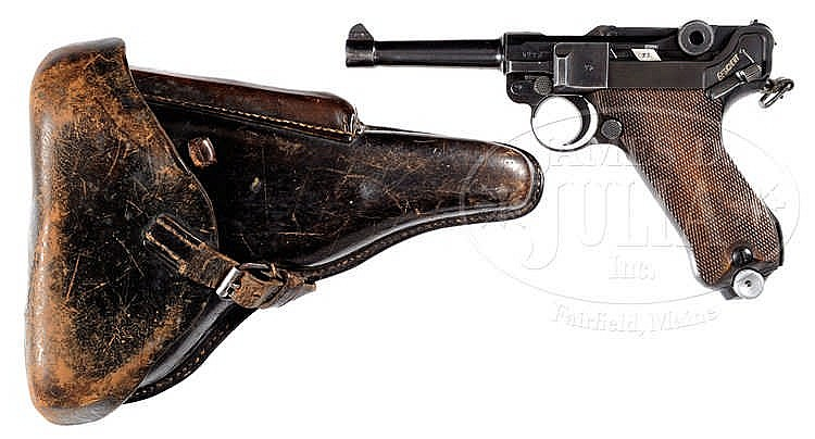 MAUSER S/42 1937 P08 WWII LUGER 9MM PISTOL WITH HOLSTER