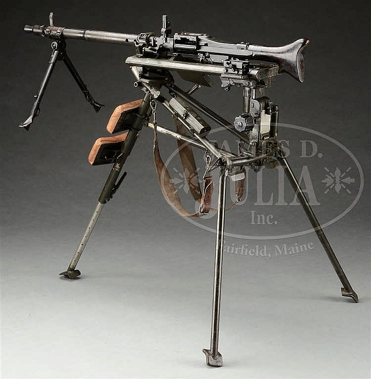 OUTSTANDING AND MATCHING MG-34 TANK MACHINE GUN WITH LAFET