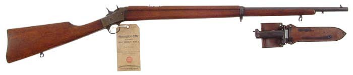 *RARE REMINGTON MODEL #4 AMERICAN BOY SCOUT SINGLE SHOT RIFLE WITH BAYONET & HANG TAG