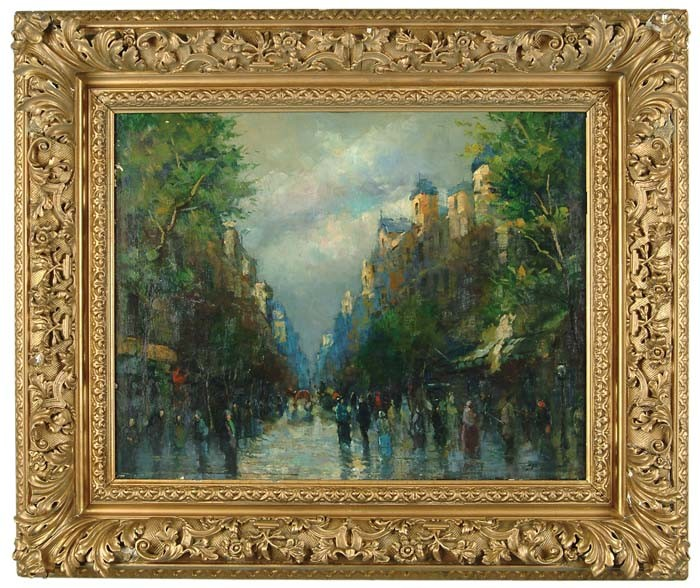 LEON JOSEPH FLORENTIN BONNAT (French, 1833-1922) PARIS STREET SCENE