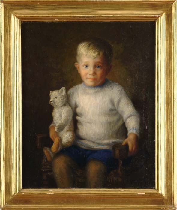 HENDRICUS ANTHONIUS DIEVENBACH (Dutch, 1872-1946) BOY WITH TEDDY BEAR