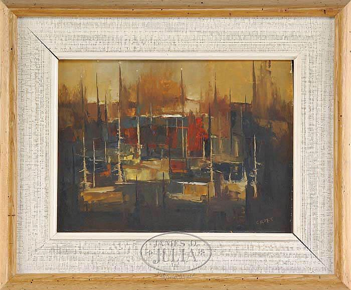 LEWIS SCOTT CROFT (American, 1911-1980) ABSTRACT HARBOR