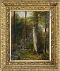 GEORGE HETZEL (American, 1826-1899) DEEP WOODS CLEARING, George Hetzel, Click for value