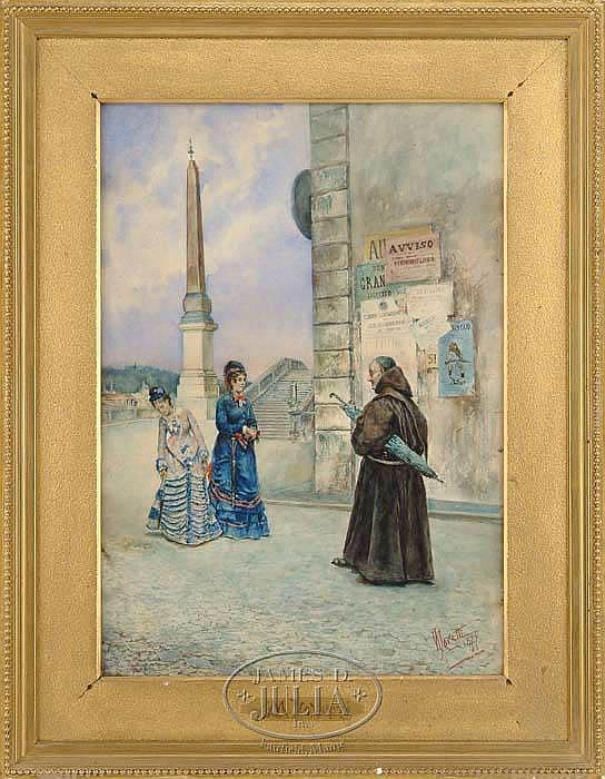 MATTEO LOVATTI (Italian, 1861) THE CHANCE MEETING