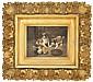 SCOTT LEIGHTON (American, 1849-1898) PUPS AND CHICKS